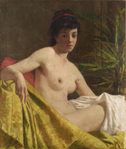 Spartaco Vela Study of a female nude Undated, oil on canvas